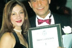 Adriana with Joseph Albano, founder of The Hartford Ballet